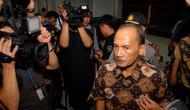 Tidak terima dengan keputusan hakim tersebut, Budi Mulya menyatakan banding, PN Tipikor, Jaksel, Rabu (16/7/2014) (Liputan6.com/Miftahul Hayat)