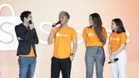 Shopee memperkenalkan Via Vallen dan Rizky Febian sebagai brand ambassador baru mereka.  (Shopee)