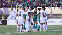 Ambisi Persik Kediri meraih tiket langsung ke babak delapan besar Liga 2 2019 harus tertahan. (Bola.com/Gatot Susetyo)