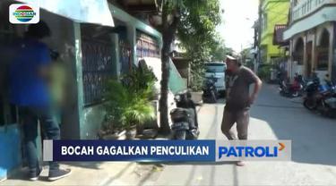 Korban beruntung lolos dari sergapan penculik karena nekat melawan pelaku yang mengendarai sepeda motor.
