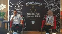 Direktur Pengembangan Usaha Perum Peruri Fajar Rizki dalam acara Ngopi BUMN di Kementerian BUMN, Rabu (8/1/2020).