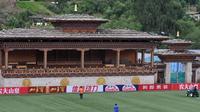 Changlimithang Stadium di Bhutan. (AFP/Diptendu Dutta)