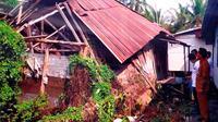 Rumah Farida Anggraini (46), guru ngaji di Kota Palembang yang mendapatkan program bedah rumah dari Baznas Sumsel (Liputan6.com / Nefri Inge)