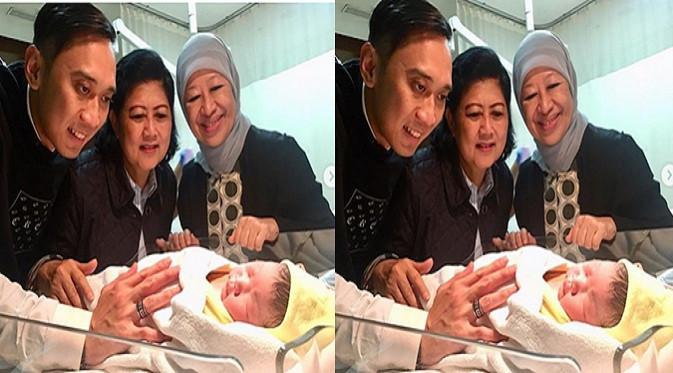Cucu keempat SBY lahir pagi ini, Senin, 1 Januari 2018. (Instagram Ani Yudhoyono)