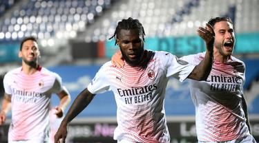Kegembiraan Pemain AC Milan Rebut Tiket Liga Champions