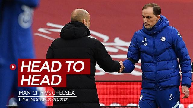 Berita motion grafis head to head statistik Manchester City kontra Chelsea jelang laga pekan ke-35 Liga Inggris 2020/2021 yang digelar Sabtu (8/5/2021) malam hari WIB.
