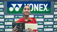 Atlet muda PB Djarum, Mutiara Ayu Puspitasari, sukses membawa pulang gelar dari Slovenia International 2021 dari sektor tunggal putri. (dok PB Djarum)