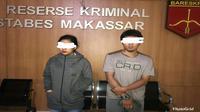 Resmob Polsek Panakukang berhasil menangkap muncikari inisial BA bersama rekan ABG perempuan inisial SY yang ia tawarkan ke pelanggannya (Humas Polrestabes Makassar/ Eka Hakim)