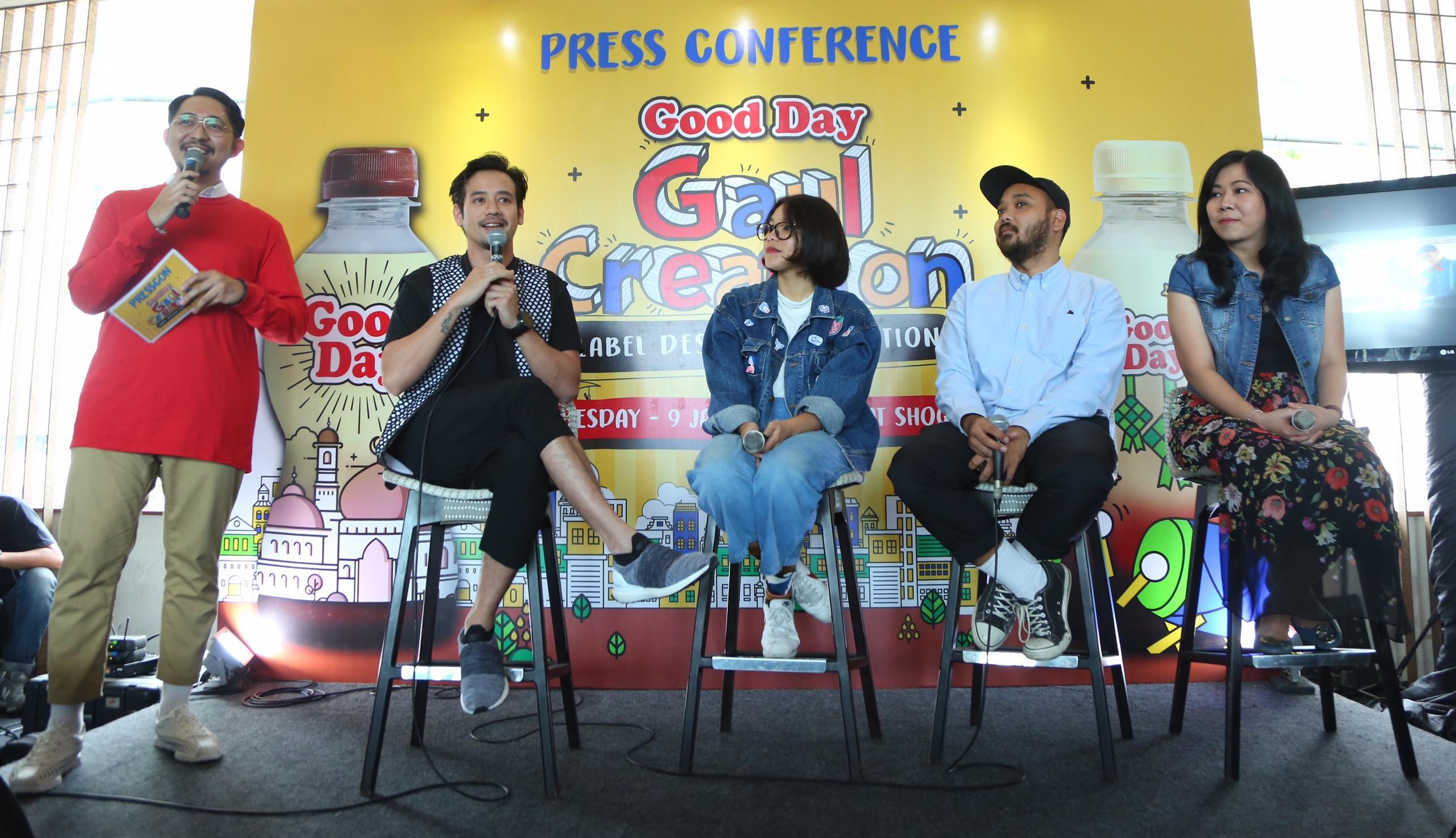 Acara press conference Good Day Gaul Creation di Kuningan, Jakarta Selatan. (Fotografer: Daniel Kampua/Bintang.com)