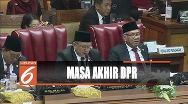 Masa bakti berakhir, Ketua DPR Bambang Soesatyo minta maaf pada rakyat bila kinerja DPR belum maksimal.