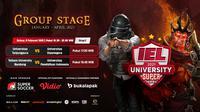 Babak kedua IEL University Super Series 2021 fase grup C, Selasa (9/2/2021) puku 17.00 WIB dapat disaksikan melalui platform Vidio, laman Bola.com, dan Bola.net. (Dok. Vidio)