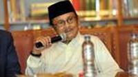 Salah satu foto mediang Presiden ke-3 Indonesia BJ. Habibie (Liputan6.com)