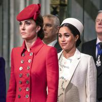 Meghan Markle dan Kate Middleton (Richard Pohle/Pool Photo via AP)