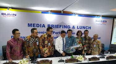 Media Briefing & Lunch di Kantor Cabang Bank BTN Cawang Jakarta Timur, Senin (17/2/2020).