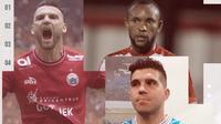 Fabiano Beltrame, Zah Rahan, dan Marko Simic. (Bola.com/Dody Iryawan)