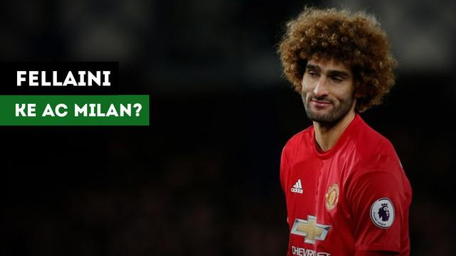 AC Milan dikabarkan tertarik mendatangkan gelandang Manchester United, Marouane Fellaini.