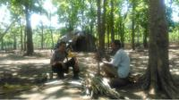 Kakek di Perbatasan RI-Timor Leste. (Liputan6.com/Ola Keda)