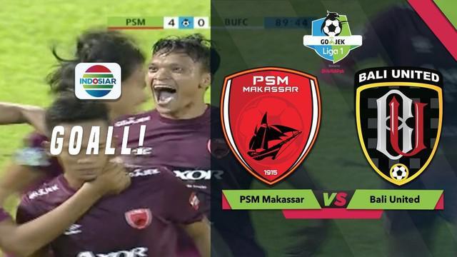 Ferdinand Sinaga mencetak dua gol saat PSM menghadapi Bali United melengkapi koleksi golnya menjadi 10 di Gojek Liga 1 2018 bersama Bukalapak.