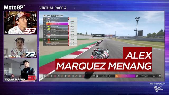 Berita Video Alex Marquez kembali kalahkan Marc Marquez di MotoGP Virtual Race