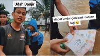 Dapat undangan nikah mantan saat kebanjiran (Sumber: TikTok/maulana.synes)