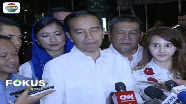Jokowi arahkan  Tim Kampanye Nasional Jokowi-Ma'ruf tak main politik hoaks.