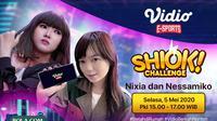 Program terbaru dari Vidio eSports bertajuk SHIOK Challenge bersama Nixia dan Nessamiko.