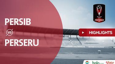 Berita video highlights Piala Presiden 2019 antara Persib Bandung menghadapi Perseru Serui yang berakhir dengan skor 4-0.
