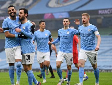 FOTO: Brace Bernardo Silva Lengkapi Kemenangan Manchester City 3-0 Atas Birmingham City