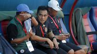 Asisten pelatih PSS yang untuk sementara ditunjuk jadi pelatih, Seto Nurdiyantoro. (Bola.com/Ronald Seger Prabowo)