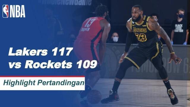 Berita Video Highlights NBA, LA Lakers Kalahkan Houston Rockets 117-109