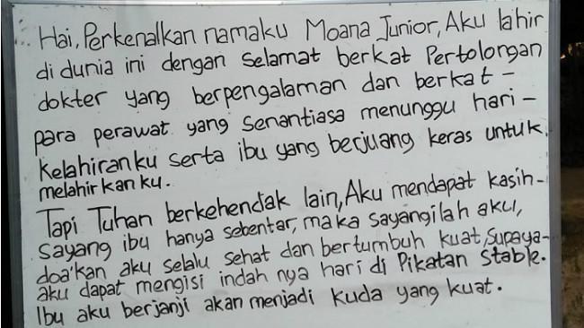 Curhatan' Moana Junior yang ditinggal mati ibu dan ayahnya. (KRJogja.com/Abra Arimagupita)