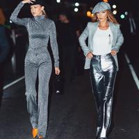 Intip gaya Gigi Hadid hingga Zendaya yang kenakan busana bernuansa abu-abu perak di New York Fashion Week (Foto: instagram/gigihadid)