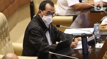 Raker Menhub Budi Karya dengan Komisi V DPR