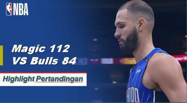 Nikola Vucevic memimpin Magic dengan 22 poin dan 12 rebound saat mereka menang atas Bulls, 112-84.