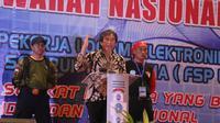 Direktur KKHI Aswansyah mewakili Menaker Hanif Dhakiri membuka (Munas) VI Dewan Pimpinan Pusat (DPP) Federasi Serikat Perkat Logam Elektro Mesin Serikat Pekerja Seluruh Indonesia.