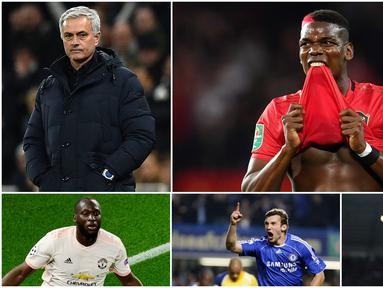 Berikut ini para pemain top dunia yang pernah diboyong Jose Mourinho dengan harga selangit. Diantaranya, Paul Pogba, Romelu Lukaku dan Didier Drogba. (Foto Kolase AFP)