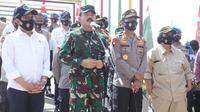 Panglima TNI Marsekal Hadi Tjahjanto dan Kapolri Jenderal Idham Azis. (Istimewa)