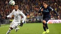 3. Rodrygo (Real Madrid) - Penyerang asal Brasil berumur 19 tahun ini memiliki nilai transfer yang cukup tinggi. Market value Rodrygo saat ini mencapai 50 juta euro. (AFP/Pierre-Philippe Marcou)