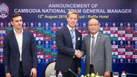 Bintang asal Jepang, Keisuke Honda, resmi menjabat sebagai GM sekaligus pelatih kepala Timnas Kamboja. (Bola.com/Dok. AFC)
