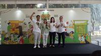 (kiri-kanan) CEO Warung Pintar, Pendiri SAHARA, COO Tokopedia, dan Presiden Direktur OVO. (Liputan6.com/Tri Ayu Lutfiani)
