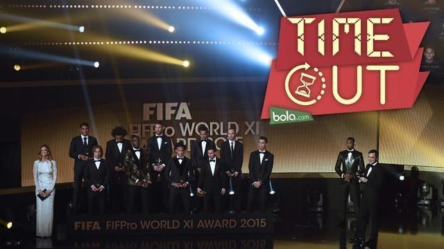 Real Madrid dan Barcelona mendominasi 11 pemain terbaik dunia tahun 2015 dalam perhelatan Ballon d'Or 2015