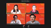 ShopeePay Talk membahas soal memulai bisnis dengan modal minim berpenghasilan jutaan yang berlangsung daring, Jumat, 16 Juli 2021 (Liputan6.com/Komarudin)