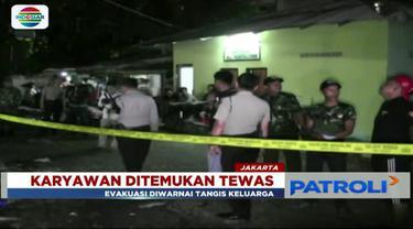 Mayat pria pengangkut alat berat ditemukan membusuk di dalam mess karyawan di Jalan Daan Mogot, Jakarta Barat.