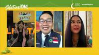 Ridwan Kamil dan Aura Kasih dalam program Silaturahome hari kedua. (Liputan6.com)