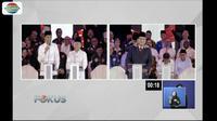 Banyak momen menarik saat debat perdana capres dan cawapres Kamis (17/1) malam seerti saat Sandi memijat Prabowo.