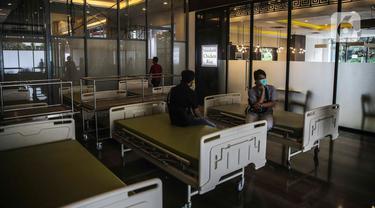 FOTO: Plaza di Jakarta Selatan Disulap Jadi Rumah Sakit Darurat COVID-19