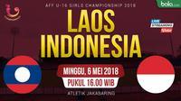 AFF U-16 Putri Laos Vs Indonesia (Bola.com/Adreanus Titus)