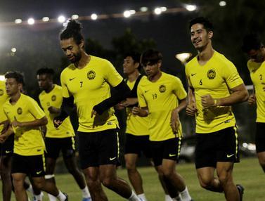 FOTO: Malaysia Gelar Latihan Perdana Jelang Hadapi Timnas Indonesia