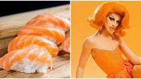 Sushi dengan salmon (Sumber: Twitter/aquarialegend)