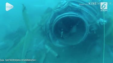 Tim penyelam Koarmabar TNI AL menemukan lokasi bangkai pesawat Lion JT 610.